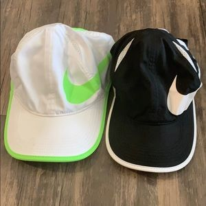 Two Nike Featherlight Hats